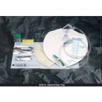 Bardia Closed System Foley Insertion Tray with 2000 mL Drainage Bag