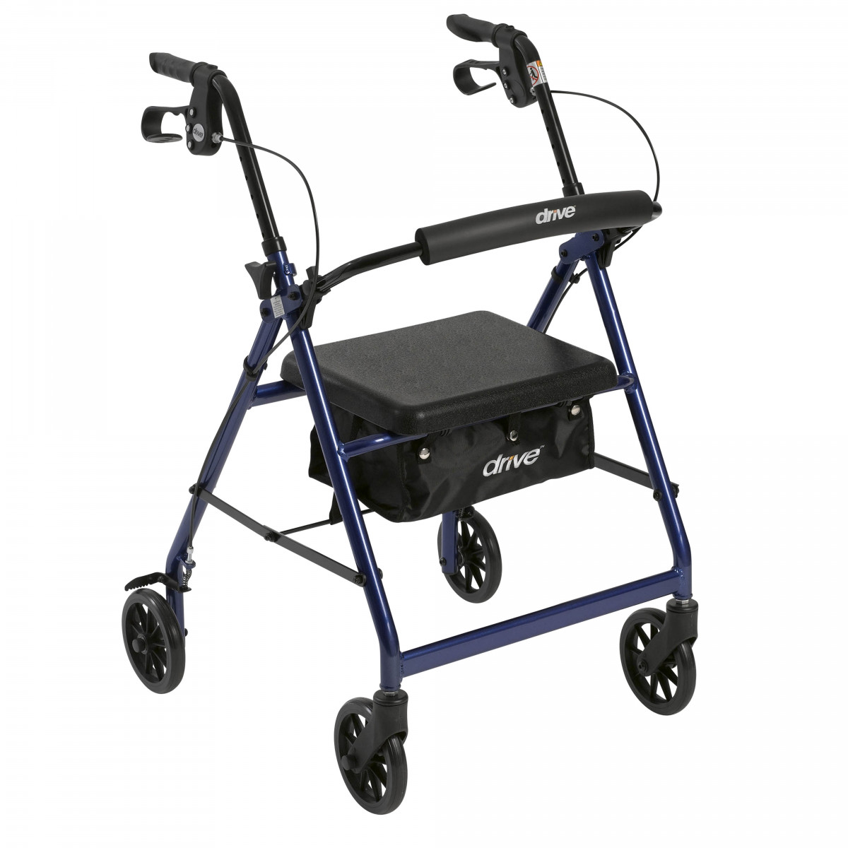 lightweight rollator with fold up and removable back support by drive 12e