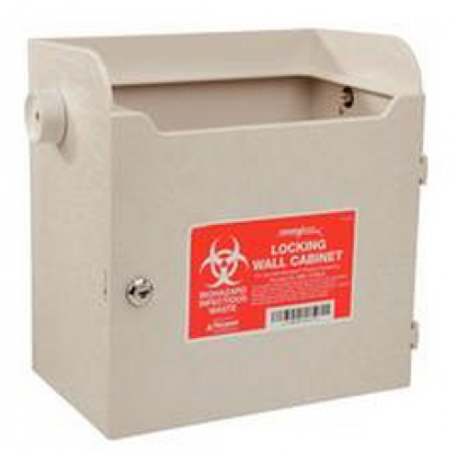 Locking Wall Cabinet For Monoject Sharps Containers