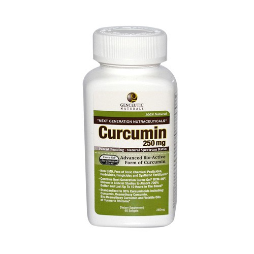 Genceutic Naturals Curcumin 250 mg Dietary Supplement