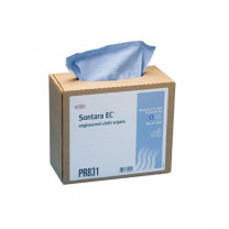 Sontara EC Wipers Blue Creped Interfolded in Dispenser Box