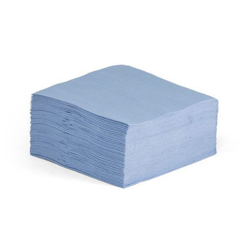 Taskbrand A115 Sontara Blue Creped Quarterfold Polybag Wipers