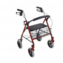 Four Wheel Rollator Walker with Removable Back Support
