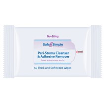 Safe n Simple No Sting Peri-Stoma Cleanser & Adhesive Remover Wipes
