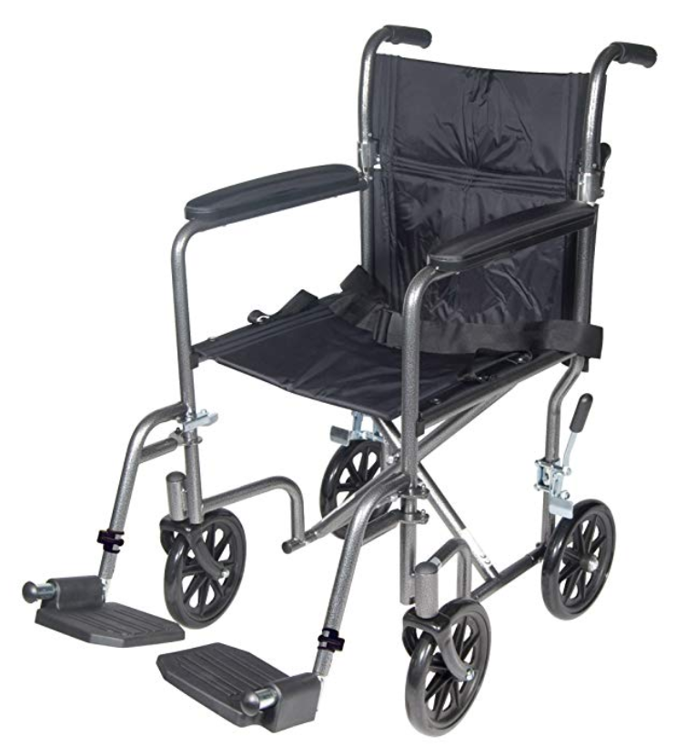 economy steel transport chair by drive ee6