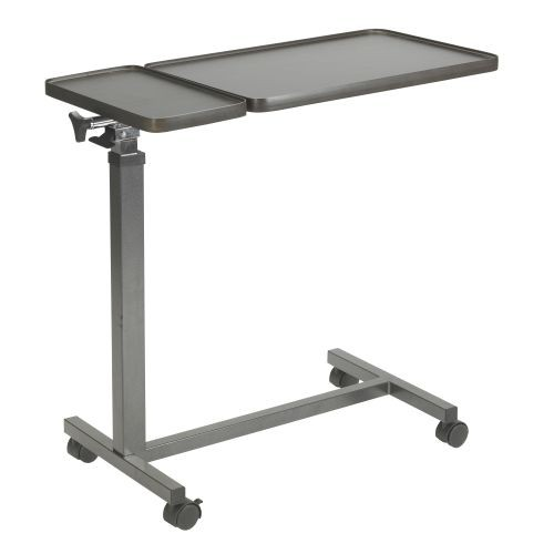 Drive Medical 13068BV OverBed Table with Double Tilt Tops Tray