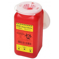 BD Sharps Container 8 Quart Red Medical Waste Collector