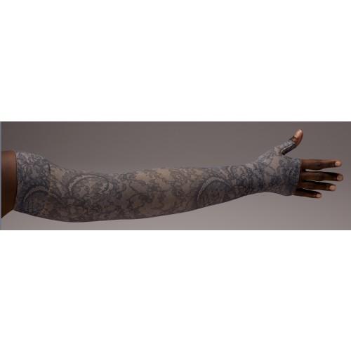 LympheDivas Midnight Lace Compression Arm Sleeve 20-30 mmHg w/ Diva Diamond Band