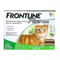 Frontline Plus Flea and Tick Treatment for Cats - 3-Month