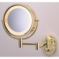 Jerdon Brass Lighted Wall Mount Mirror