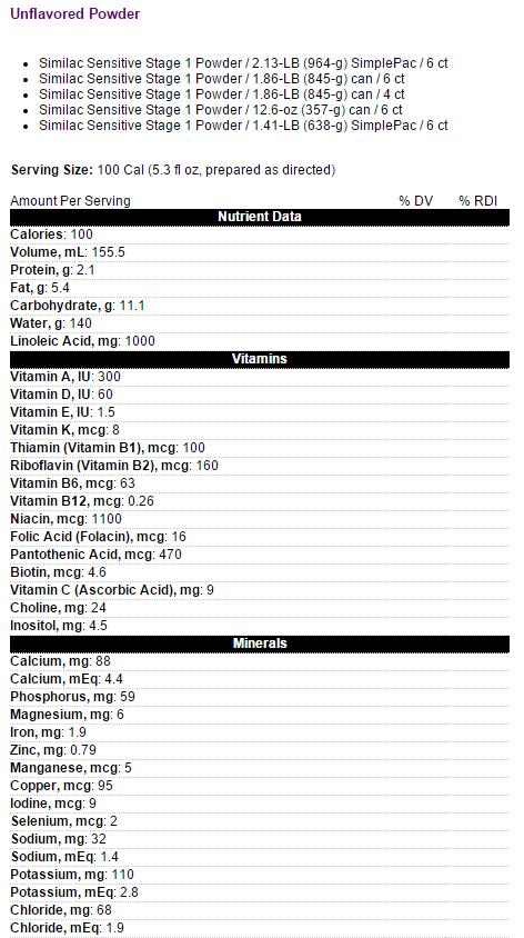 similac sensitive infant formula w iron 9a6