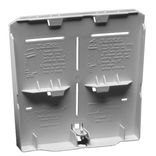 Hidden Bracket and Key for Sharps-A-Gator Sharps Containers