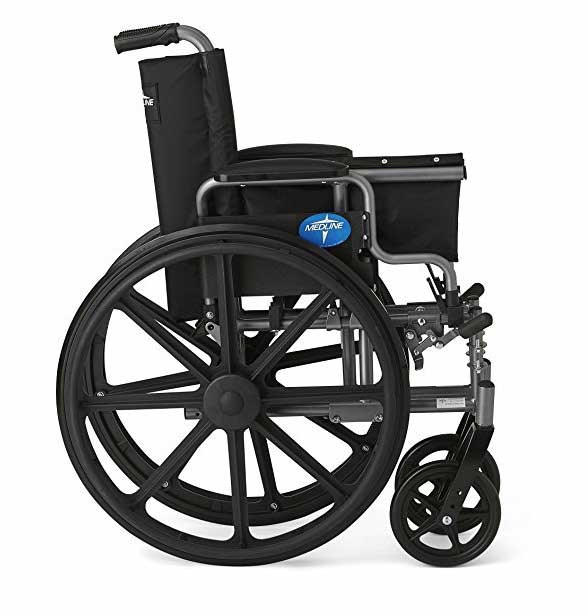 medline strong and sturdy wheelchair f3d