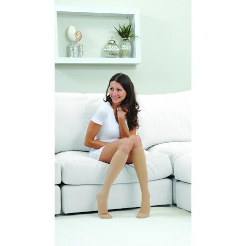 MICROFIBERLINE Women's Compression Socks Knee High CLOSED TOE 15-20 mmHg