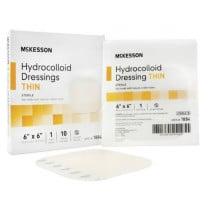 McKesson 6 x 6 Inch Hydrocolloid Dressing - 1884 | Thin, Sterile