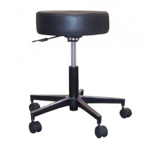 Pneumatic Stool with Padded Seat and Metal Base