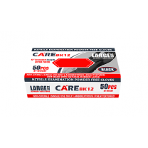 CARE Black 12 Inch Powder-Free Nitrile Exam Gloves
