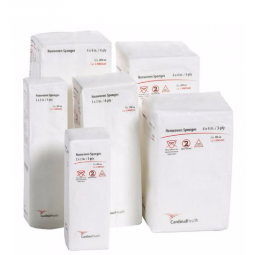 Cardinal Health 4 x 4 in All Purpose Non-Woven Sponge 4-Ply - C-NWS444