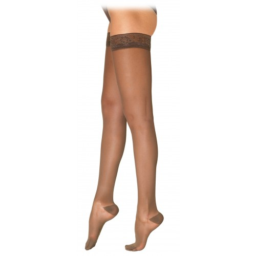 Sigvaris 780 Eversheer Women's Thigh High Compression Stockings w/ Silicone Top Band - 783N CLOSED TOE 30-40 mmHg