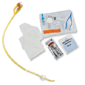 Curity Ultramer Foley Catheter Trays with 2 Way Hydrogel Coated Catheter with Coude Tip