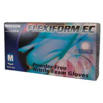FLEXIFORM EC Nitrile Exam Gloves Textured Fingertips Blue Chemo Rated Powder Free - NonSterile