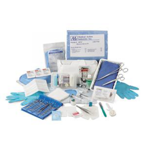 Universal Protection Tray with Eyeshield and Bouffant Cap by Medical Action Industries