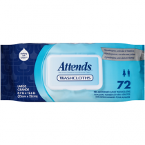 Attends Washcloths 72 Pack