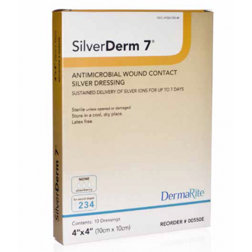 SilverDerm 7 Antimicrobial Wound Contact Silver Dressing