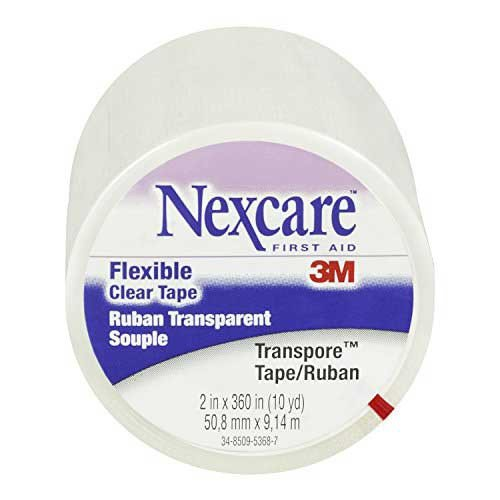 nexcare transpore clear tape 527p2 2 inch x 10 yards by 3m c2e