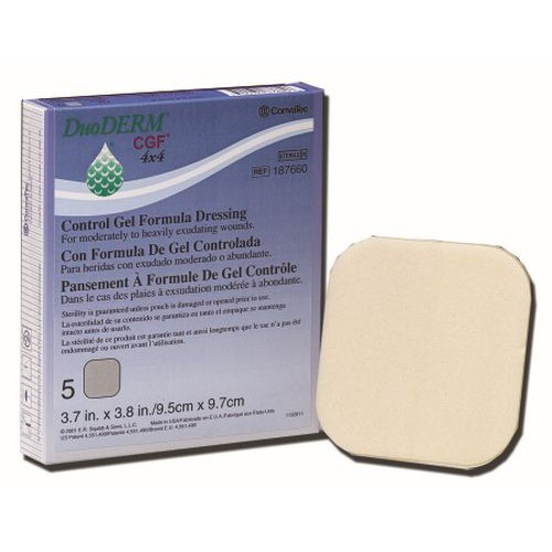 DuoDERM CGF 187658 | Square: 4 x 4 Inch by ConvaTec