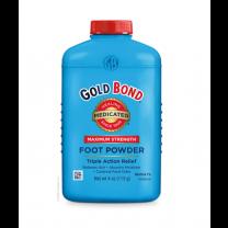 Gold Bond Medicated Foot Powder Maximum Strength 4 oz Bottle