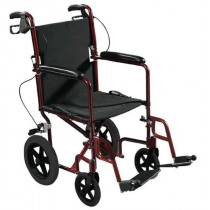 Expedition Lightweight Transport Chair with Flat Free Wheels by Drive