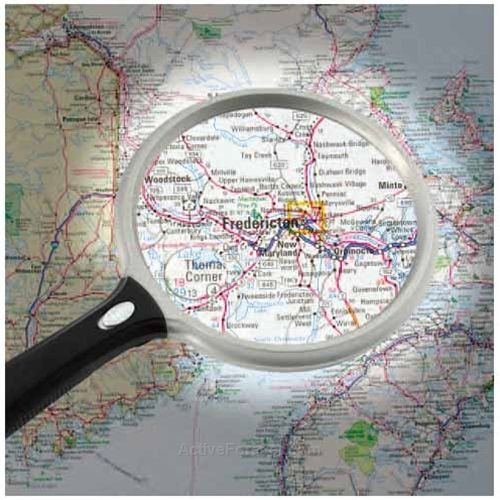 5 Inch Round LED Lighted 2x Magnifier With 6x Bifocal