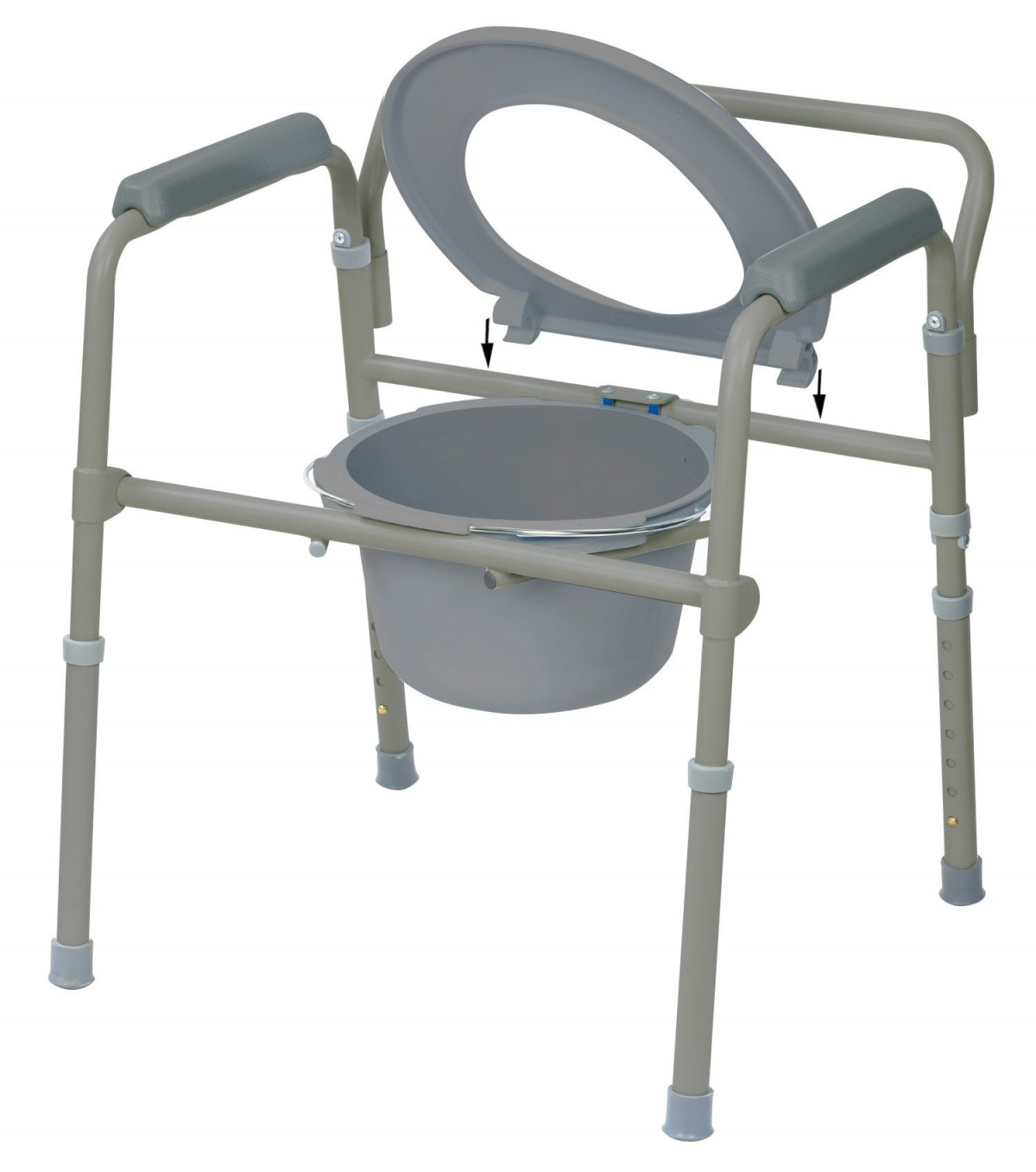 Drive Medical 11148 4 Folding Steel Commode Vitality Medical