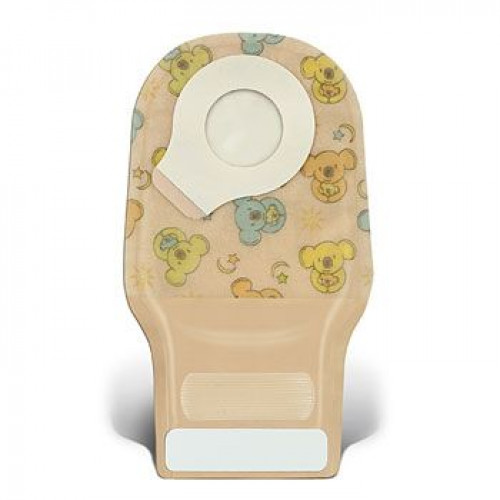 Little Ones Two-Piece Adhesive Coupling Technology Extra Small Drainable Pouch with InvisiClose Tail Closure System