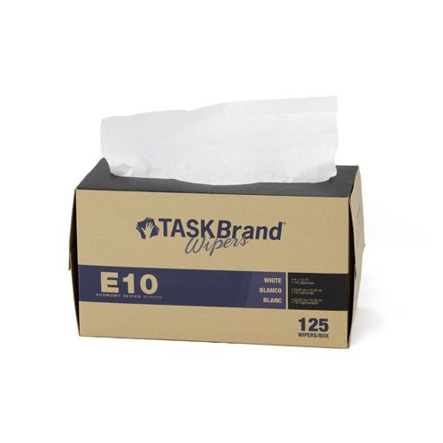 Taskbrand E10 Wiper Pad Interfold Dispenser White Wipers