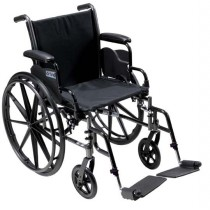 Cruiser III Light Weight Wheelchair with Flip Back Arm and Foot Rigging