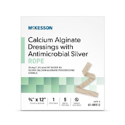 Calcium Alginate Dressing with Antimicrobial Silver 4 x 4-1/2 Inch - Sterile