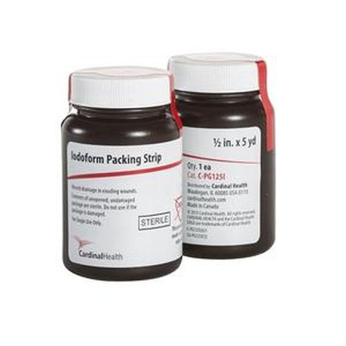 Cardinal Health Iodoform Gauze 1/2 in x 5 yd Packing Strips - CPG125I