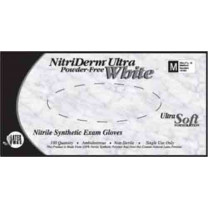 NitriDerm Ultra White Nitrile Exam Gloves Powder Free - NonSterile