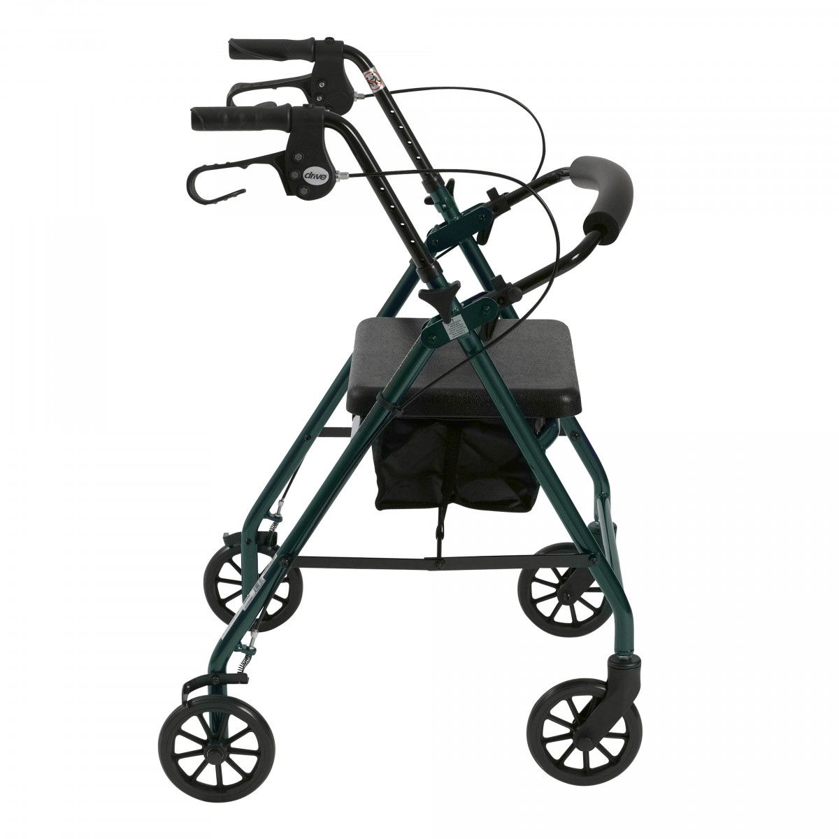 lightweight rollator with fold up and removable back support by drive 2fa