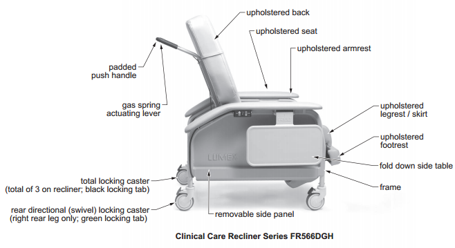lumex deluxe clinical care recliner by graham field  1fe