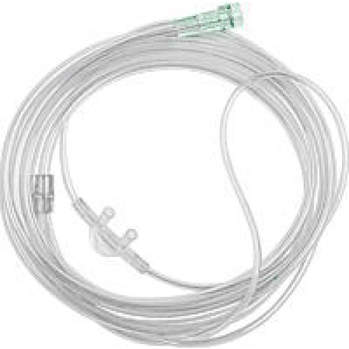 Nasal cannula curved and non flared with foot tubing