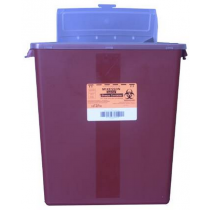 Red Sharps Container w/ Horizontal Lid 12.5 W x 6 D x 13.5 H Inches