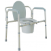 Folding Heavy Duty Bariatric Deep Seat Commode