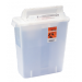 3 Gallon Clear SharpSafety Sharps Container with Counterbalance Lid 8536SA