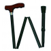 Adjustable Folding Cane with Derby Handle