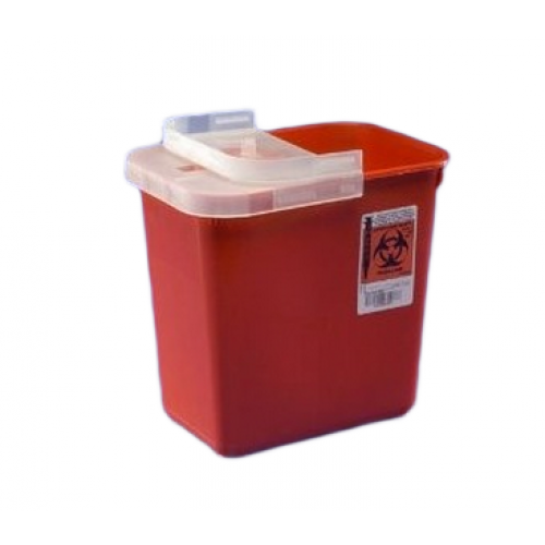 1 Quart Red SharpSafety Sharps Container for Phlebotomy 8990SA