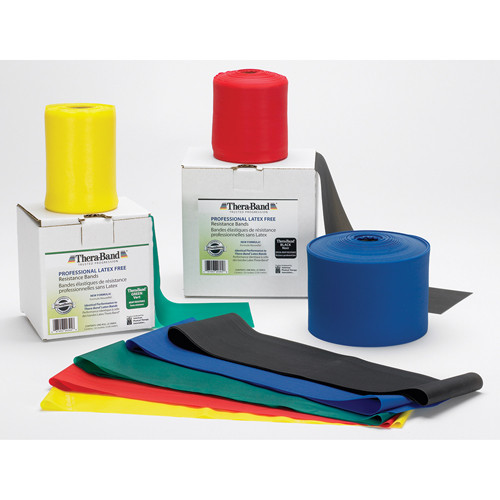 TheraBand Latex-Free Professional Resistance Bands - 25/50 Yds.