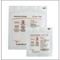 Cardinal Health 2 x 2 in. Non-Woven All Purpose Sponges 4-Ply, Sterile - C-NWS224S